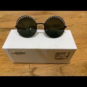 Chanel pearl glasses